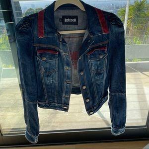 NWOT Just Cavalli Denim Jacket Size 40